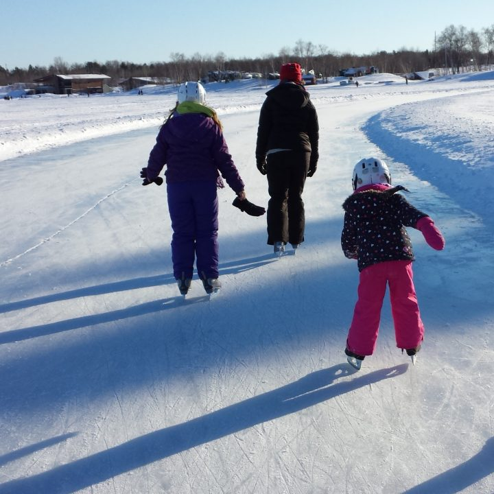 Skating on Ramsey Lake