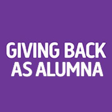 Giving Back as Alumna