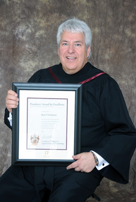 Brian P. Vendramin receives President's Award for Excellence