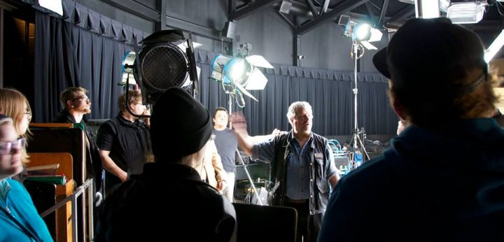 Cambrian professor Ken Salah conducts a lighting workshop to prepare students for careers in the entertainment and film industry.