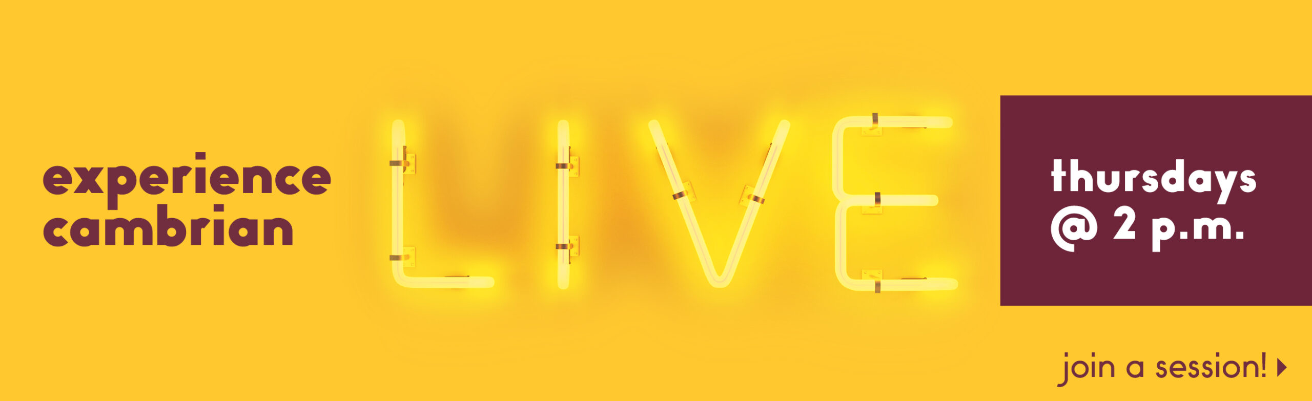 Live Info Sessions
