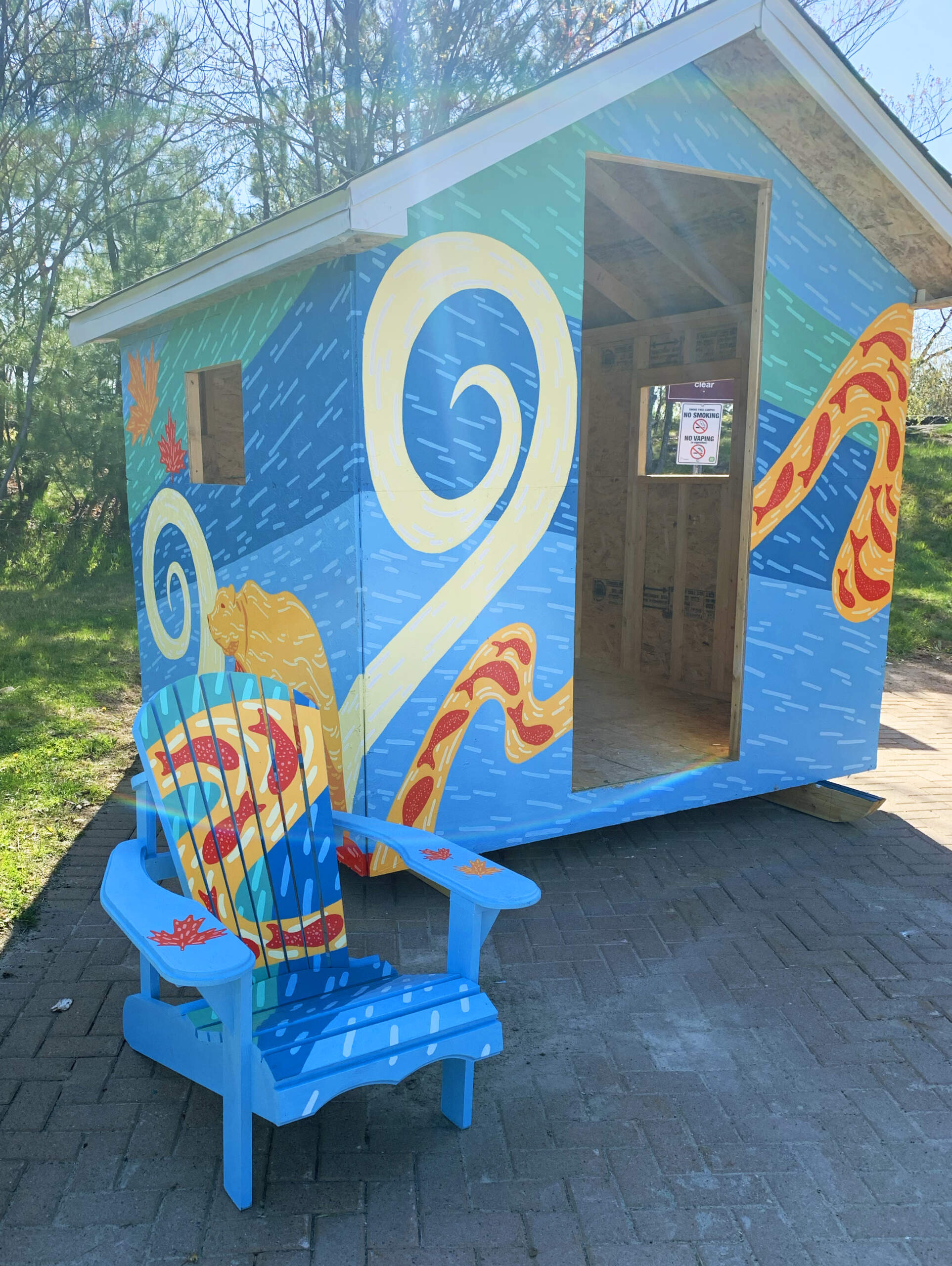 The Cambrian College Foundation is auctioning two ice huts and Muskoka chairs, custom-built by Cambrian's Carpentry students and hand-painted by Design and Visual Arts students. Proceeds will go toward student bursaries. To place a bid, visit www.facebook.com/thecambriancommunity.